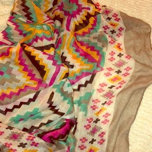 Colorful tribal scarf